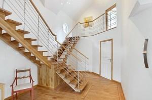 lesene stopnice, lesene ograje