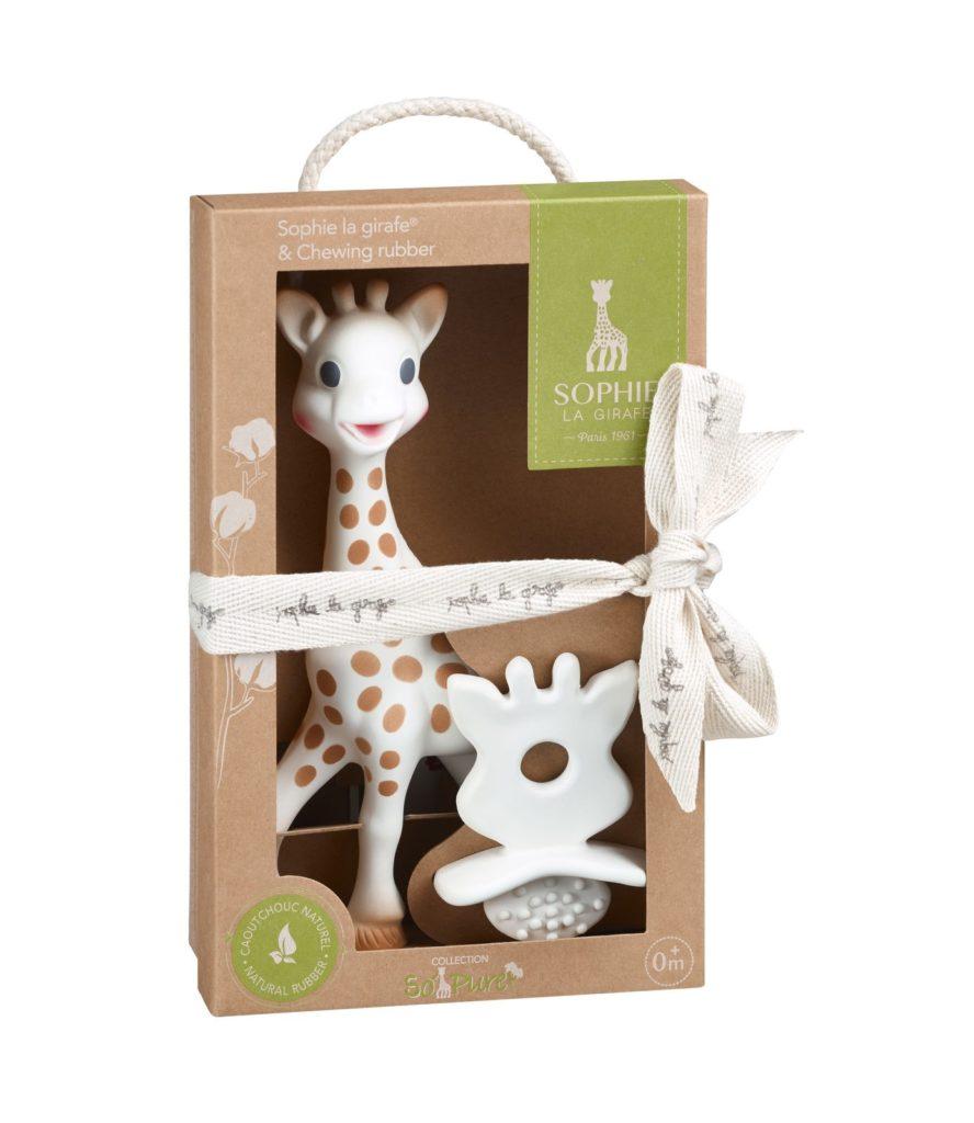 Žirafa Sophie kot otrokova prva igrača